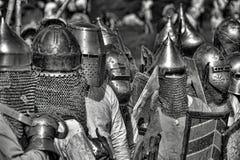 Sepia medieval de la batalla Imagenes de archivo