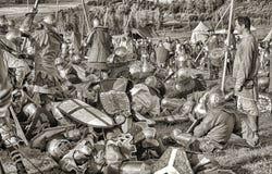 Sepia medieval de la batalla Fotografía de archivo libre de regalías