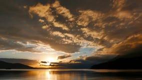 Sepia Mediterrane Zonsondergang 11 Keer Tijdspanne stock footage