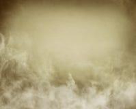 Sepia Mist en Wolken Royalty-vrije Stock Afbeeldingen