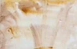 Sepia ocher yellow watercolor abstract Stock Photo