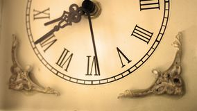 Sepia old fashioned antique western roman clock ticking slowly by Angle 3. Nov 24 2017 stock video footage