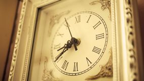 Sepia old fashioned antique western roman clock ticking slowly by Angle 2 Nov 24 2017 stock footage