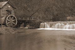 Sepia old mill Royalty Free Stock Photos