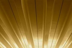Sepia Patterns In The Roof Stock Photo