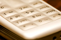 Sepia phone buttons Stock Photography