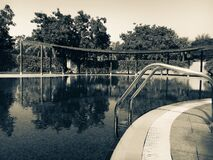 Sepia Photography of Swimming Pool Royalty Free Stock Photo