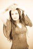 Sepia Portrait Royalty Free Stock Photo