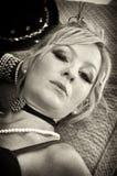 Sepia portret het bepalen Royalty-vrije Stock Fotografie
