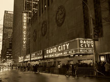 Sepia Radio City Stock Images