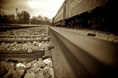 Sepia rail Stock Photography