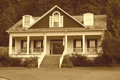 Sepia - Residential House Stock Photography