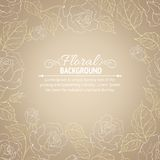 Sepia romantic frame. Royalty Free Stock Images
