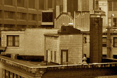 Sepia roof top Royalty Free Stock Photos