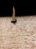 sepia sailing стоковое изображение rf