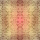 Sepia Seamless floral pattern royalty free illustration