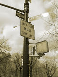Sepia signs nyc Stock Photos