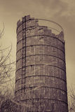 Sepia silo Royalty Free Stock Images