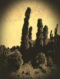 Sepia snapshot of the desert Stock Image
