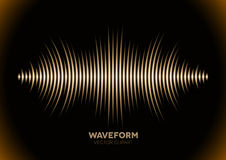 Sepia sound waveform. Sepia retro sound waveform with sharp peaks Royalty Free Stock Images