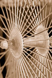 Sepia Spokes royalty-vrije stock foto