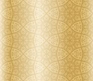 Sepia starshaped seamless arabesque Royalty Free Stock Image