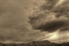 Sepia Storm Stock Photography