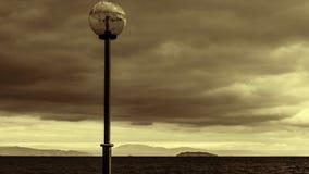 Sepia Stormachtige Kust - de Zwarte Zee Royalty-vrije Stock Foto