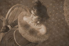 Sepia. In the style of the 20s of the last century Stock Photo
