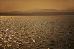 Sepia Sunset Stock Image