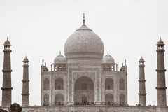 Sepia Taj Mahal, Agra, Uttar Pradesh, India Royalty Free Stock Images