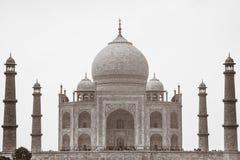 Sepia Taj Mahal, Agra, Uttar Pradesh, la India imágenes de archivo libres de regalías