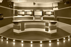 Sepia television studio Royalty Free Stock Images