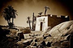 Sepia tempel Royalty-vrije Stock Afbeeldingen
