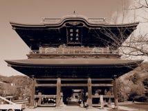 Sepia-Tempel Stockbild