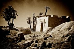 Sepia temple Royalty Free Stock Images