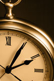 Sepia Time Clock Stock Photography
