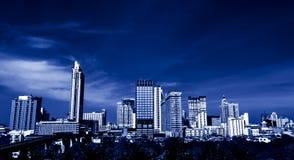 Sepia tonad Bangkok stad Arkivbild