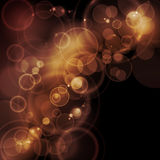Sepia tone bokeh vector background Royalty Free Stock Photos
