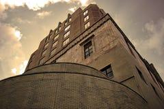 Sepia Tone Courthouse lizenzfreie stockfotografie