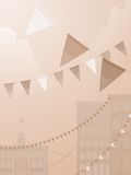 Sepia tone festival Royalty Free Stock Images