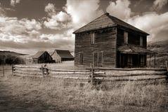 Sepia Tone Photograph van Spookboerderij in Dallas Divide dichtbij Ouray Colorado Royalty-vrije Stock Fotografie