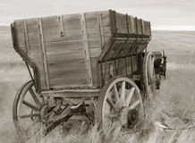 Sepia Tone Wagon Royalty Free Stock Photos
