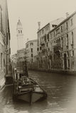 Sepia toned cityscape of Venice Stock Image