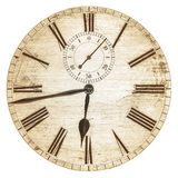 Sepia toned image of an old clock face Stock Photography