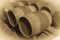 Sepia toned image of  winery Royalty Free Stock Image