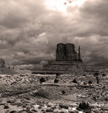 Sepia Toned Monument Valley Cloudy Skies Stock Images