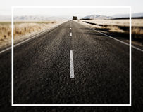 Sepia Toned Picture Road Leads Mountain Ranges Concept Stock Photos