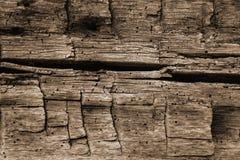 Sepia Toon van een Achtergrond van het Hand Gespleten Logboek royalty-vrije stock foto's