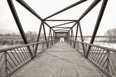 Trestle Bridge in Winter Stock Photo